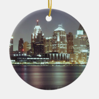 Detroit, Michigan Ceramic Ornament