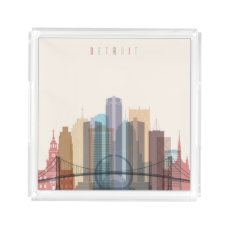 Detroit, Michigan | City Skyline Acrylic Tray