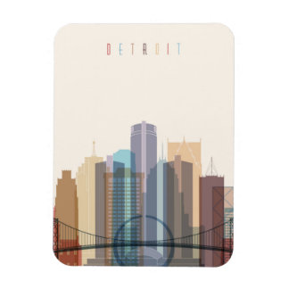 Detroit, Michigan | City Skyline Magnet