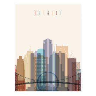 Detroit, Michigan | City Skyline Postcard