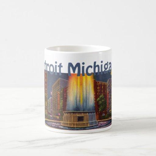 Detroit Michigan City View Mug