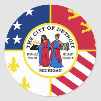 Detroit, Michigan Classic Round Sticker