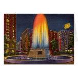 Detroit Michigan Edison Memorial Fountain Greeting Card