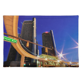 Detroit Michigan Jefferson Avenue Cloth Placemat