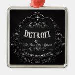 Detroit Michigan - la París del Cercano oeste Ornamento Para Arbol De Navidad