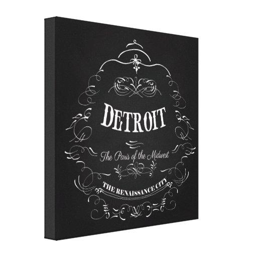 Detroit Michigan - la París del Cercano oeste Impresión En Lienzo Estirada