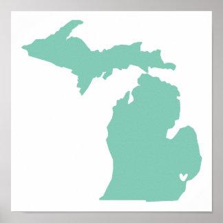 Detroit Michigan Love Poster