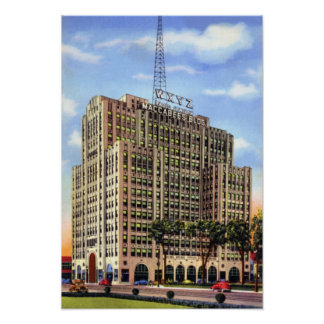 Detroit Michigan Maccabee Building WXYZ Posters