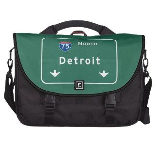 Detroit Michigan mi Interstate Highway Freeway : Laptop Messenger Bag