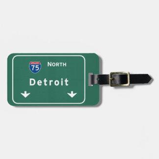 Detroit Michigan mi Interstate Highway Freeway : Luggage Tag