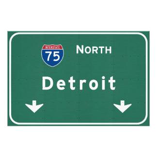 Detroit Michigan mi Interstate Highway Freeway : Photo Print