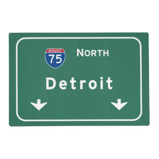 Detroit Michigan mi Interstate Highway Freeway : Placemat