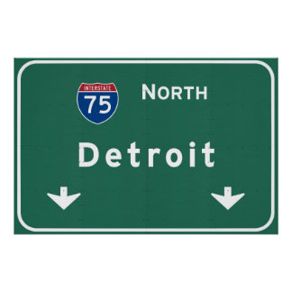 Detroit Michigan mi Interstate Highway Freeway : Poster