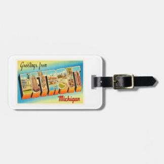Detroit Michigan MI Old Vintage Travel Souvenir Bag Tag
