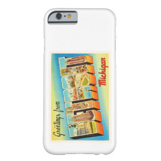 Detroit Michigan MI Old Vintage Travel Souvenir Barely There iPhone 6 Case