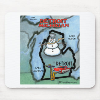Detroit Michigan Mouse Pad