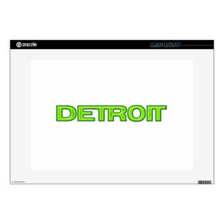 "Detroit Michigan New Motor City Rebirth Futuristic 15"" Laptop Skins"