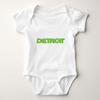 Detroit Michigan New Motor City Rebirth Futuristic Baby Bodysuit
