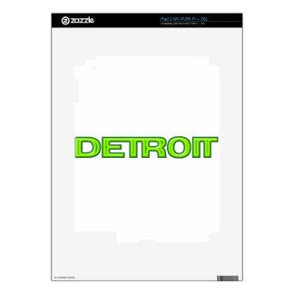 Detroit Michigan New Motor City Rebirth Futuristic iPad 2 Decal