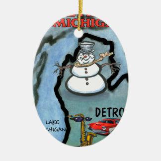 Detroit Michigan Ornament