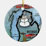 Detroit Michigan Ornamentos De Navidad