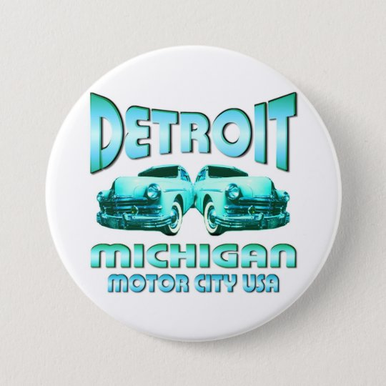 Detroit Michigan Pinback Button