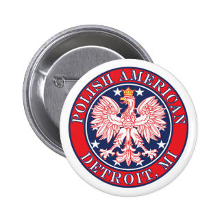 Detroit Michigan Polish Button