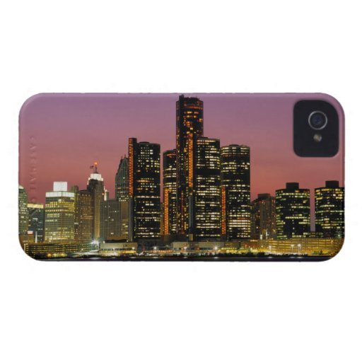 Detroit, Michigan Skyline at Night iPhone 4 Cover