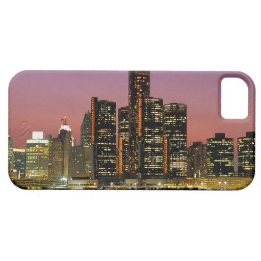 Detroit, Michigan Skyline at Night iPhone SE/5/5s Case