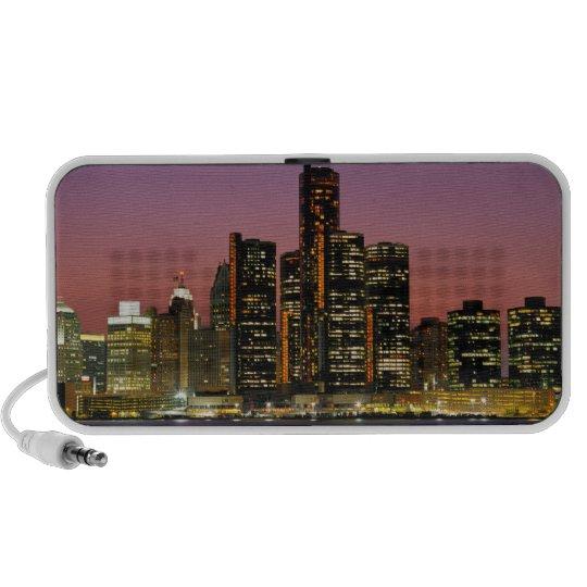 Detroit, Michigan Skyline at Night Mini Speaker