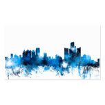 Detroit Michigan Skyline Double-Sided Standard Business Cards (Pack Of 100)