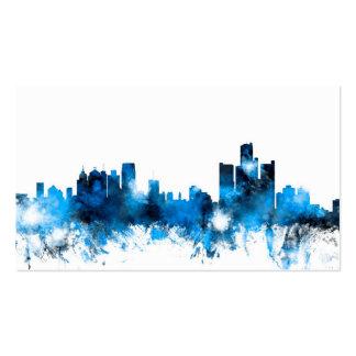 Detroit Michigan Skyline Business Card