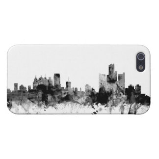 Detroit Michigan Skyline Cover For iPhone SE/5/5s