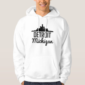 Detroit Michigan Skyline Hoodie