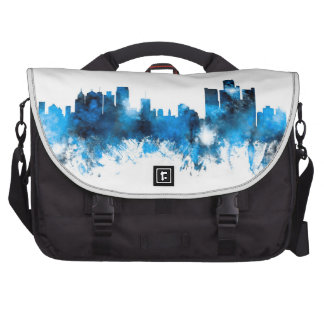 Detroit Michigan Skyline Bags For Laptop
