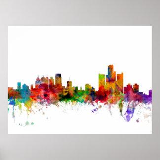 Detroit Michigan Skyline Print