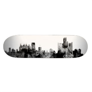 Detroit Michigan Skyline Skateboard Deck