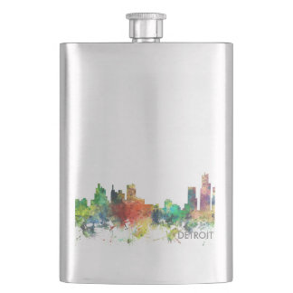 DETROIT, MICHIGAN SKYLINE SP - HIP FLASK