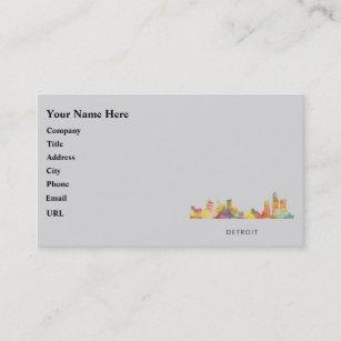 Detroit business cards templates zazzle detroit michigan skyline wb1 business card colourmoves