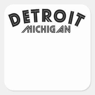Detroit Michigan Square Sticker