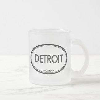 Detroit, Michigan Taza De Café Esmerilada