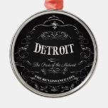 Detroit Michigan - The Paris of the Midwest Metal Ornament