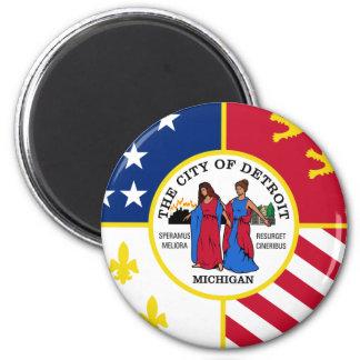 Detroit, Michigan, United States 2 Inch Round Magnet