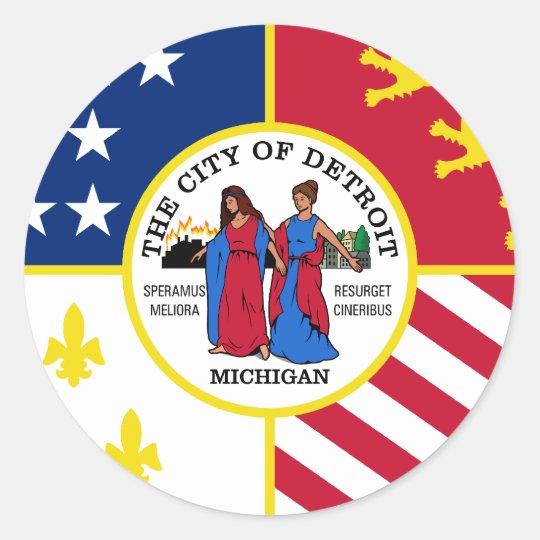 Detroit, Michigan, United States Classic Round Sticker
