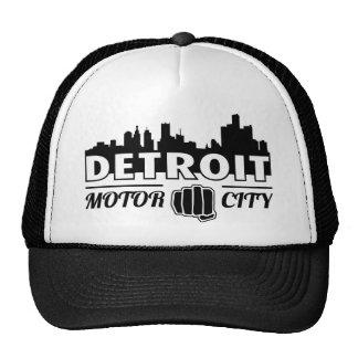 Detroit Motor City Skyline Trucker Hat