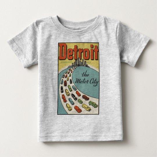 Detroit Motor City USA - Vintage Travel Baby T-Shirt
