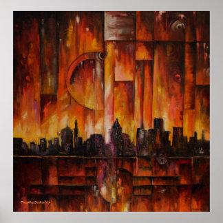Detroit-Motown masiva - impresión de la lona Impresiones
