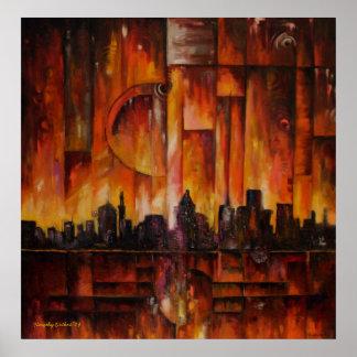Detroit-Motown masiva - impresión enmarcada Impresiones