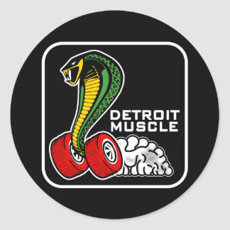 Detroit Muscle Classic Round Sticker