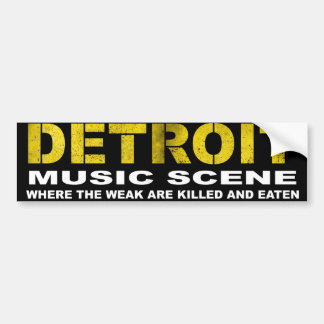 Detroit music scene bumper stickers